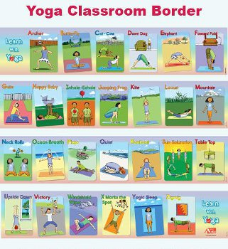 Yoga Clothes  Kids on Yoga For Kids Classroom Border   Yogaaccessories Com