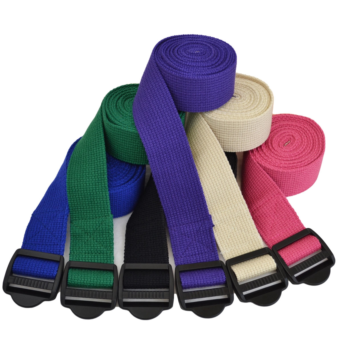 6' Cinch Buckle Cotton Yoga Strap