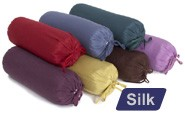 Silk Neck Pillow (with Buckwheat Hulls)