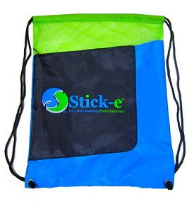 Stick-e Zipper Pocket Drawstring Backpack