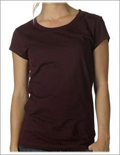 Women's Sheer Jersey Short Sleeve Longer Length Tee