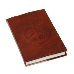 Peace Emboss Leather Journal
