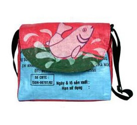Recycled Rice Bag - Messenger