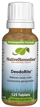 DeodoRite for Underlying Causes of Body Odor (125 Tablets)