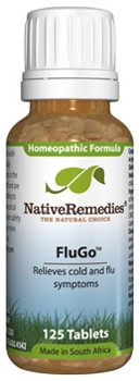 FluGo to Temporarily Relieve Symptoms of Flu or Cold (125 Tablets)