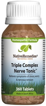 Nerve Tonic Tissue Salts for Worry and Tension (360 Tablets)