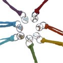 Yoga Pose Anklet / Bracelet Set - Chakra Colors