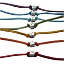 Sterling Silver Chakra Anklet / Bracelet on Suede Leather Cord