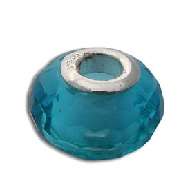 Faceted Throat Chakra Bead Turquoise 5 mm opening