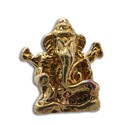 Ganesh Bead Recycled Brass