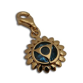 Charmas Throat Chakra Stone Charm Gold Mini