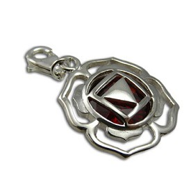 Good Vibes Root Chakra Stone Charm with Garnet Cubic Zirconia