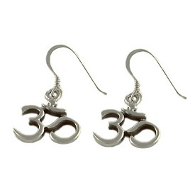 Sterling Silver OM (Aum) Classic Earrings