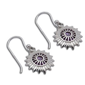 Good Vibes Crown Chakra Earrings Sterling Silver or 18k Gold Vermeil