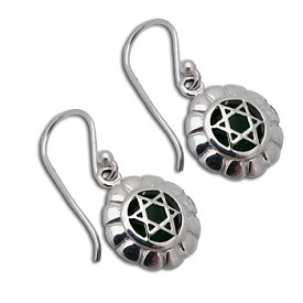 Good Vibes Heart Chakra Earrings Sterling Silver or 18k Gold Vermeil