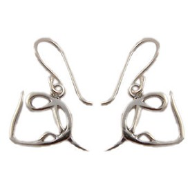 Yoga Pose Sterling Silver Earrings - Cobra Pose