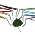 Cotton Cord Color Necklace with Sterling Silver Fastener - Ideal for Pendants (in 8 colors)