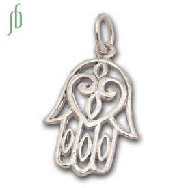 Hamsa Charm Cut-out Silver