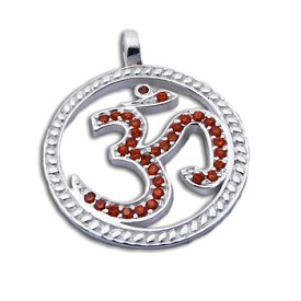 Om Bling Pendant Large Orange