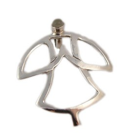 Yoga Pose Sterling Silver Pendant - Namaste Tadasana (Mountain Pose) with Gemstone