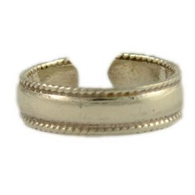 Sterling Silver Braided Band Toe Ring