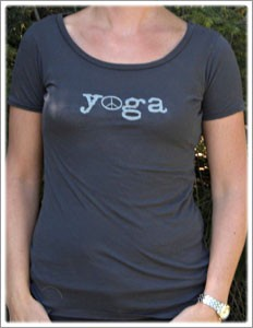 Short Sleeve Organic Scoop Neck Yoga Tee