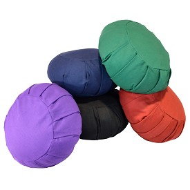 Round Cotton Zafu Meditation Cushion - Buy One Get One Free