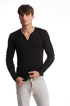 4-rth Men's Thermal V-Neck Long Sleeve
