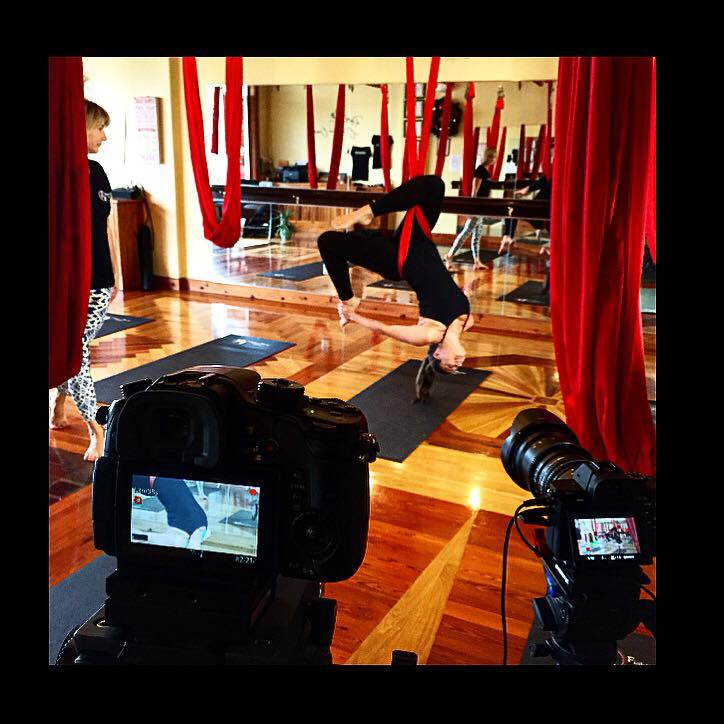 Aerial Yoga - Interview with Fighting Gravity