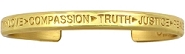 Compassion Bracelet Brass