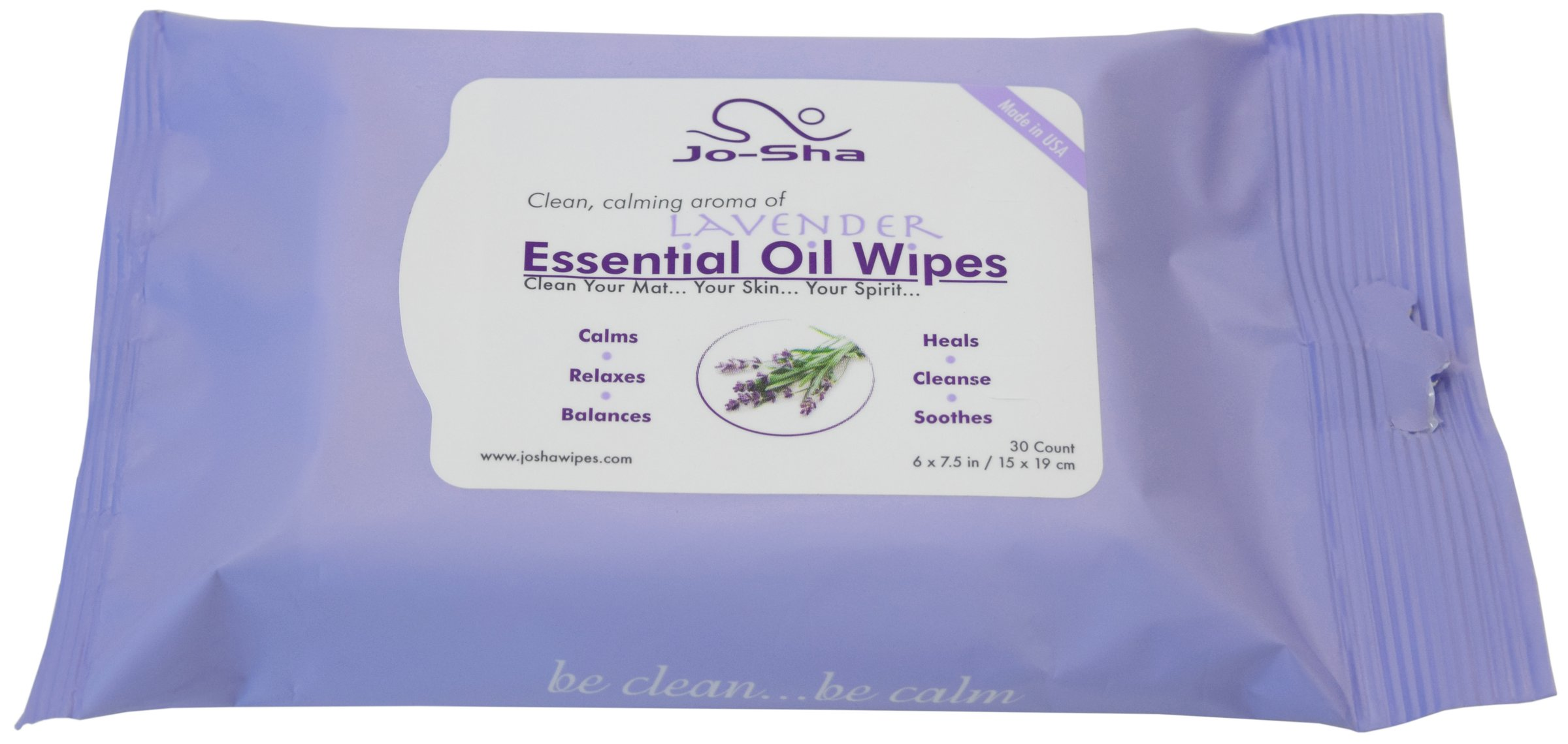 Jo Sha Yoga Mat Cleaning Wipes 30 Count