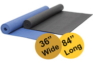 YOGA Accessories 1/4'' Extra Wide & Long Deluxe Yoga Mat