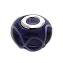 Purple Wave Silver Bead 5 mm opening