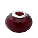 Faceted Root Chakra Bead Red 5 mm hole