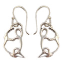 Yoga Pose Sterling Silver Earrings - King Pigeon Pose