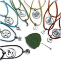 Chakra Necklace and Anklet Set with BONUS Silk Jewelry Bags
