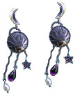 Pearl and Purple Glass Earrings