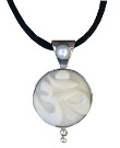 Tagua and Pearl OM Pendant
