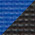 Two Tone Black/Blue (Add $2)