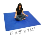 YOGA Accessories 6' Square Yoga Mat