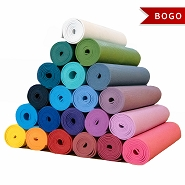 YOGA Accessories 1/4'' Extra Thick Deluxe Yoga Mat - Buy One Get One Free