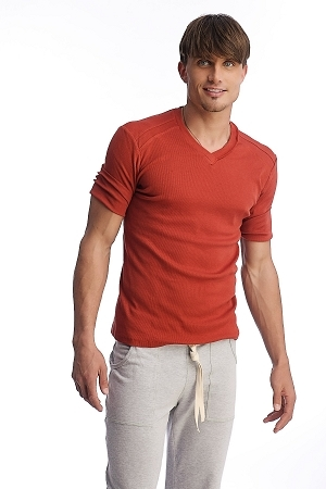 4-rth Men's Hybrid V-Neck Yoga Tee