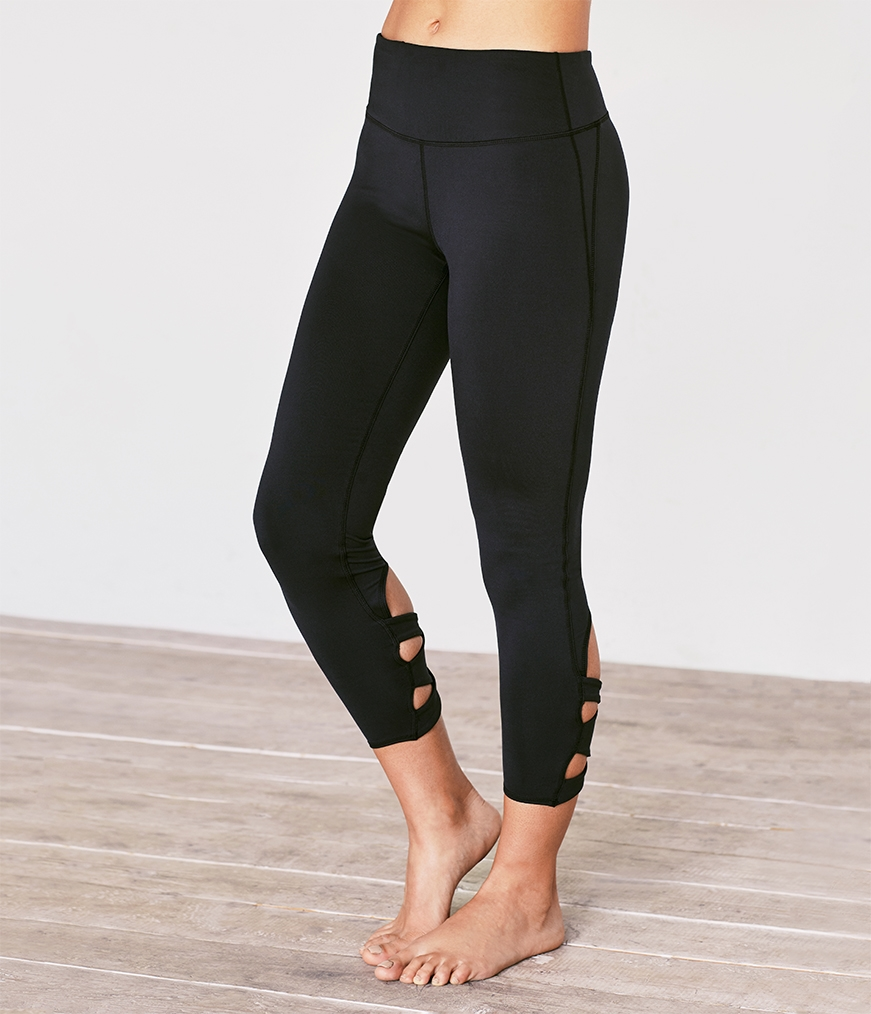 Cross-Back Crop Legging by Manduka