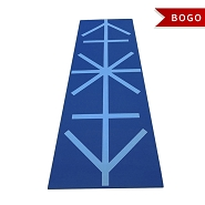 YOGA Accessories Premium Printed 1/4 Inch Alignment Yoga Mat - Buy One Get One Free