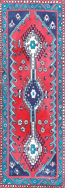 Magic Carpet Yoga Mat - Traditional Print