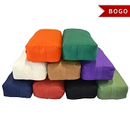 Supportive Rectangular Cotton Yoga Bolster - Buy One Get One Free