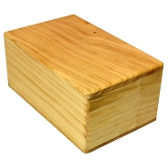 4'' New Zealand Pine Wood Yoga Block