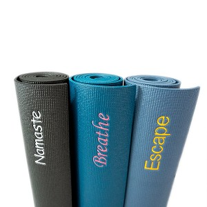 YOGA Accessories Custom Embroidered 1/4'' Extra Thick Deluxe Yoga Mat