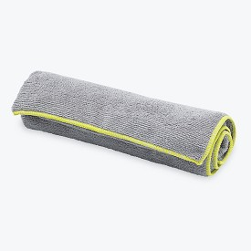 Gaiam Thirsty Yoga Hand Towel - Gray/Citron