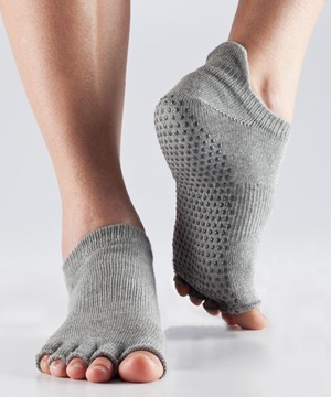 ToeSox Low Rise Grip Socks - Half Toe